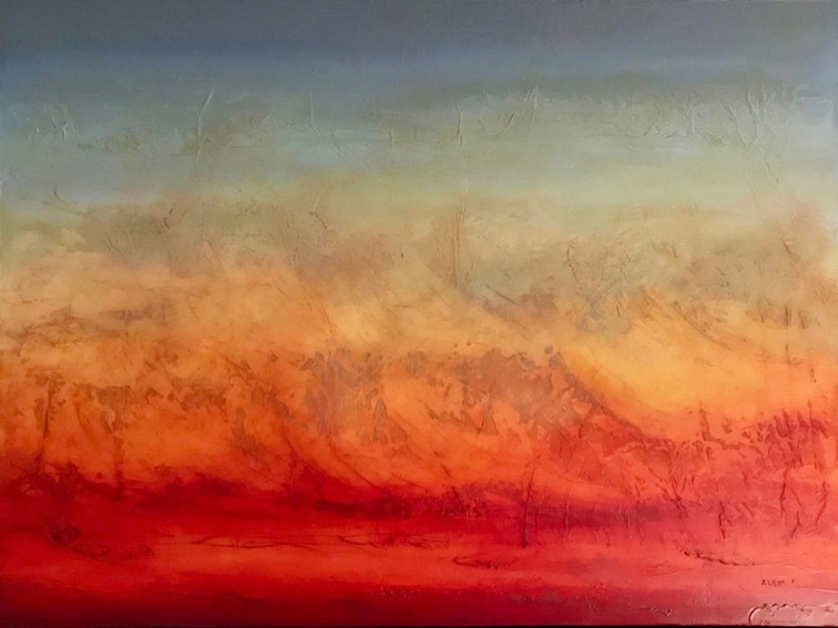 """I Listen to the Wind 30 x 40"""""""