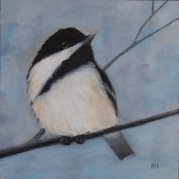 "Backyard Visitor 12 x 12"" - sold"