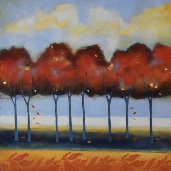 """Autumn in the Park 16 x 16"""""""