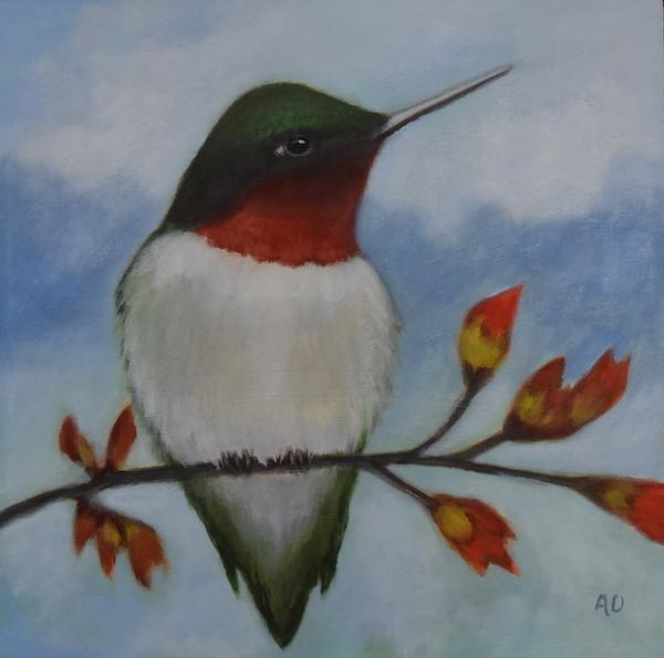 """Hummingbird Garden 12"""" x 12"""""""