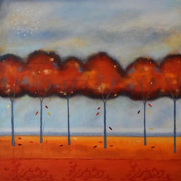 "Vibrant Autumn 16 x 16"" - sold"