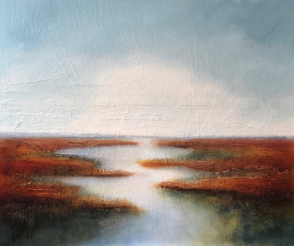 """Paddle to Open Water 36 x 30"""""""
