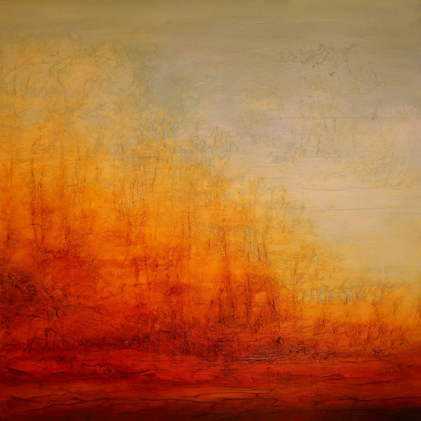 "Tree Tectonics 48 x 48"" - sold"
