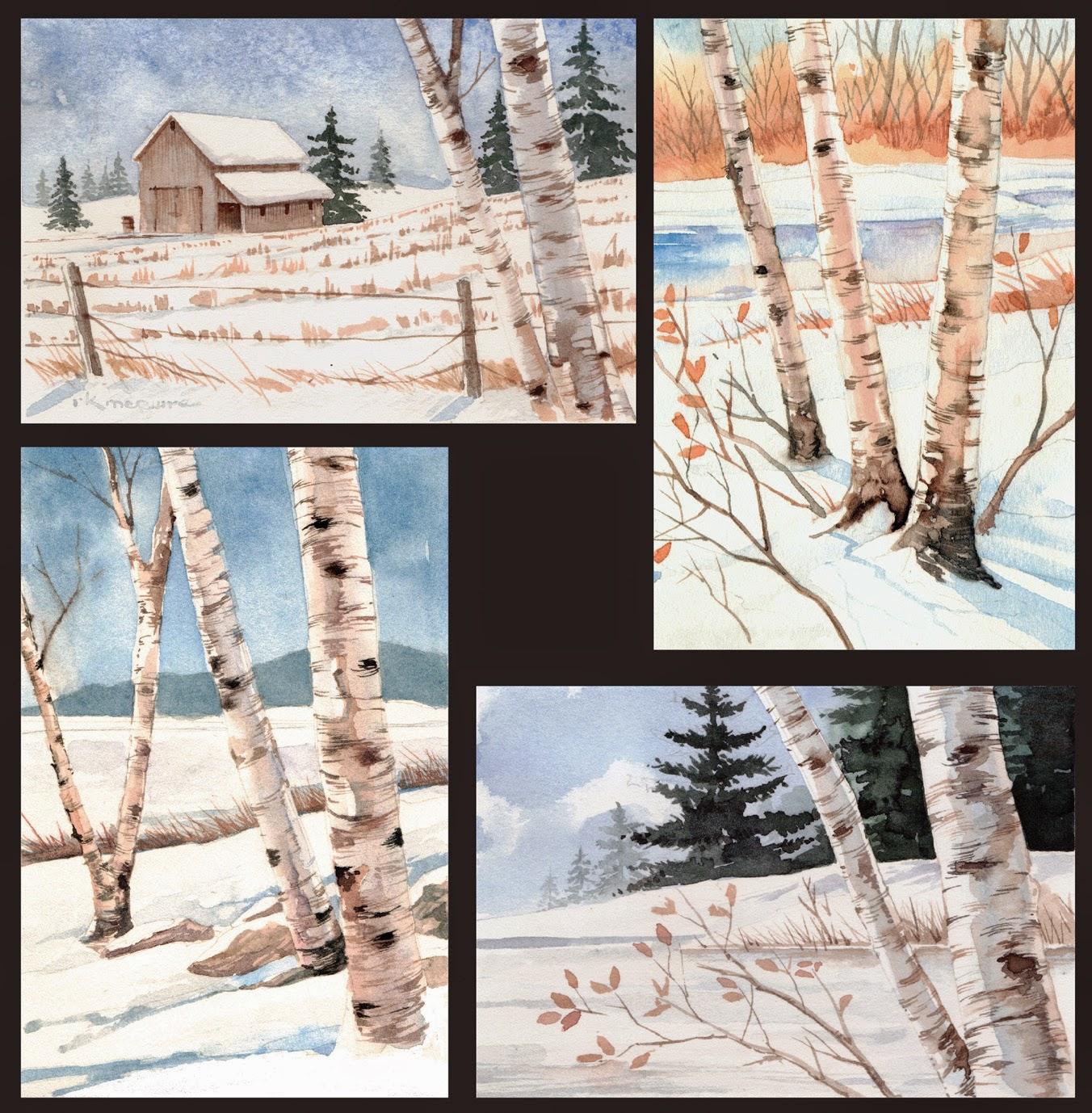 McGuire - Watercolor cards