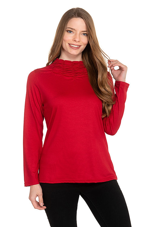 Trisha Tyler - Stitched Mock Nck Top