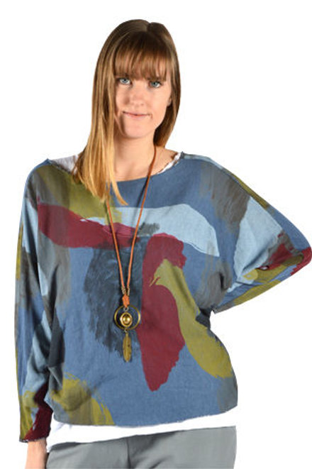 Catherine Lillywhite - Blue Abstract 3 Pc. Top Set