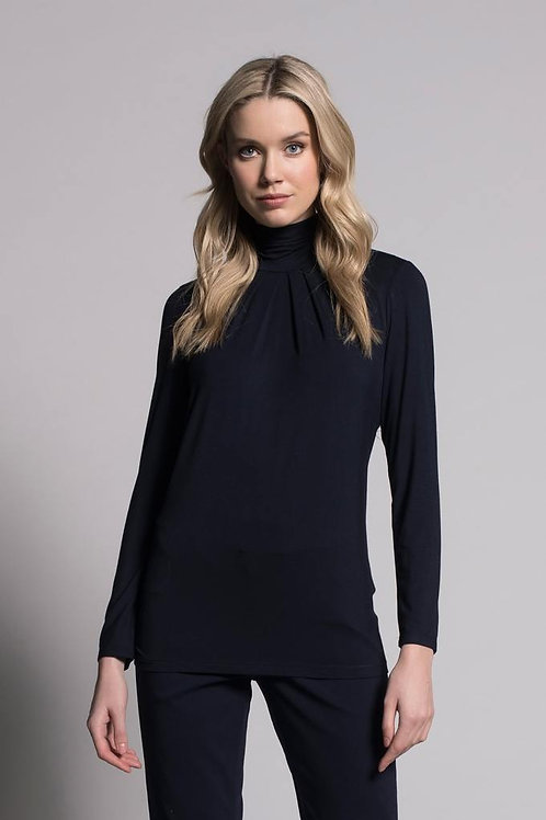 Picadilly - Pleated Mock Neck Top