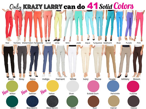 Krazy Larry - Solid Ankle Pant