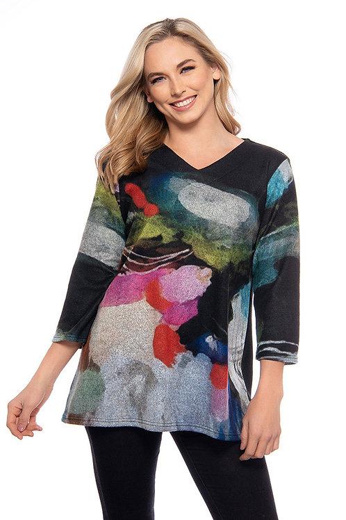 Trisha Tyler - Multicolor V-Neck Tunic