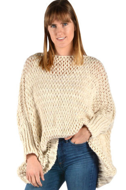 Catherine Lillywhite - Ivory Open Weave Sweater