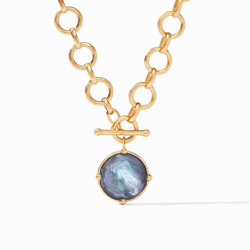 Julie Vos - Honeybee Statement Necklace: Iridescent Slate Blue