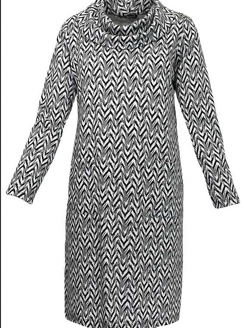 N Touch - Black & White Jacquard Dress