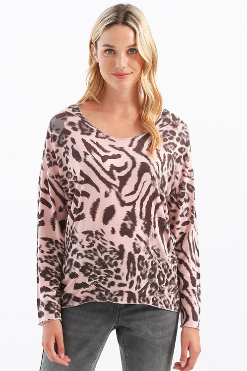 Charlie B - Quartz Animal Print Top