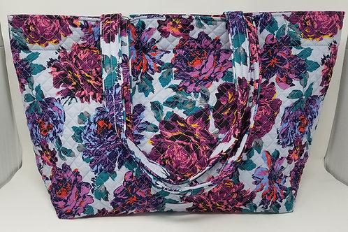 Vera Bradley Large Tote: Neon Blooms