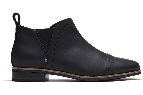 Toms - Reese Bootie in Black Leather