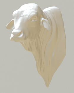 Bull head ready for 3D Printing!
