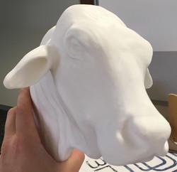 The 3D print of the Bull head!