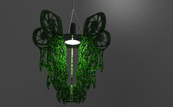 Final render black with green viens
