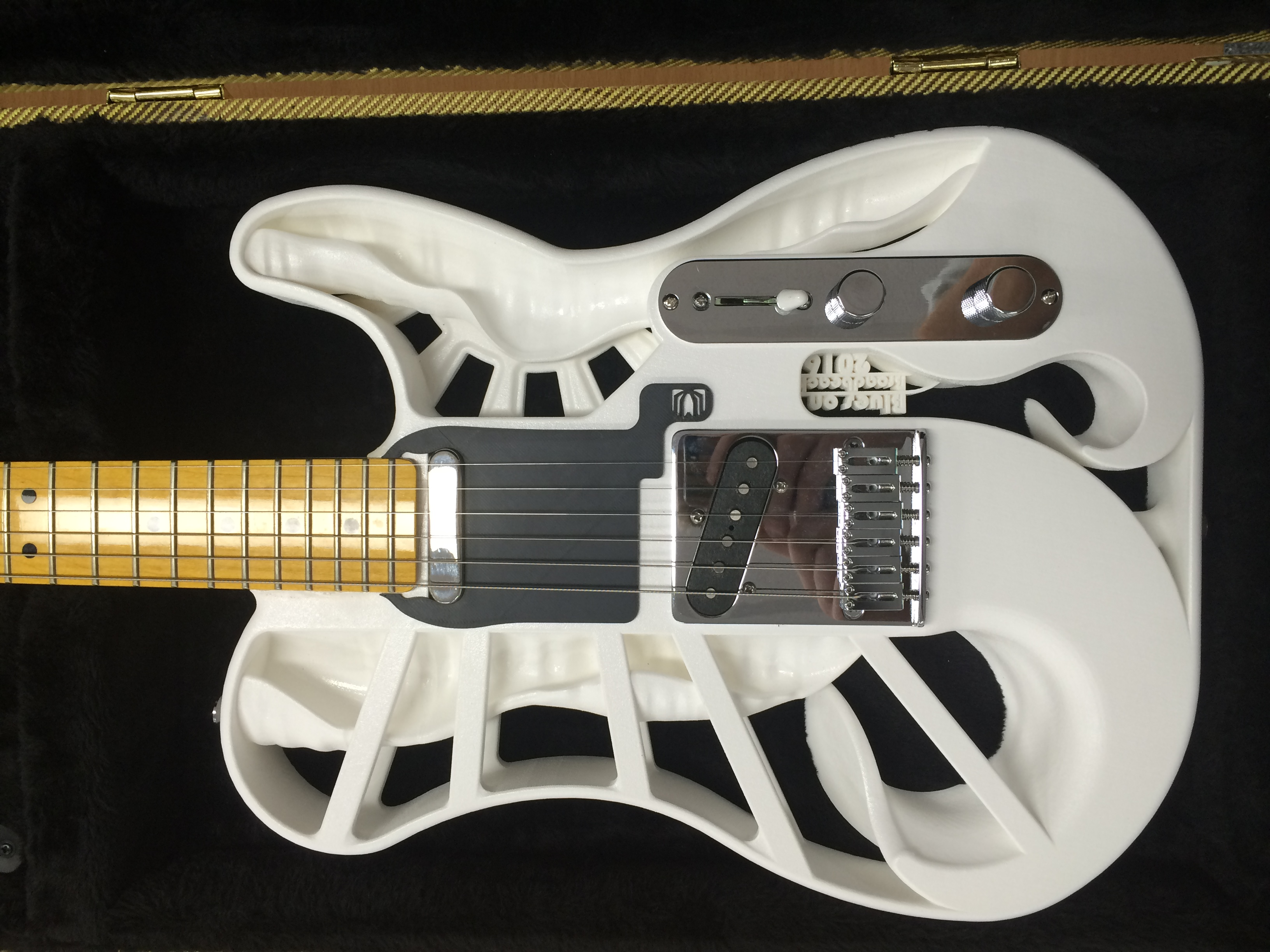 image relating to 3d Printable Instruments called 3D Posted Electrical Guitars adrian-mccormack-identification
