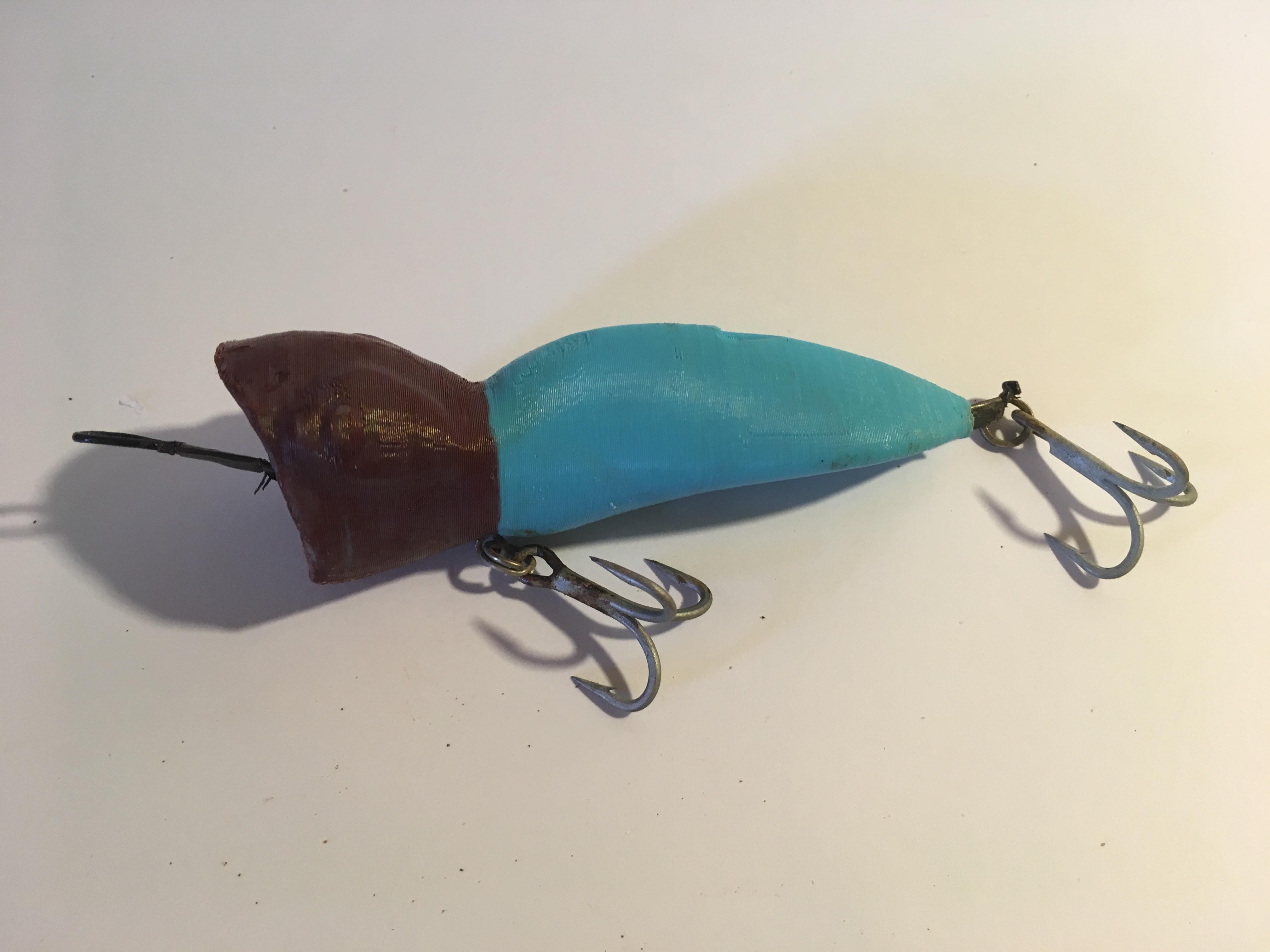 3D Printed Popper Lure