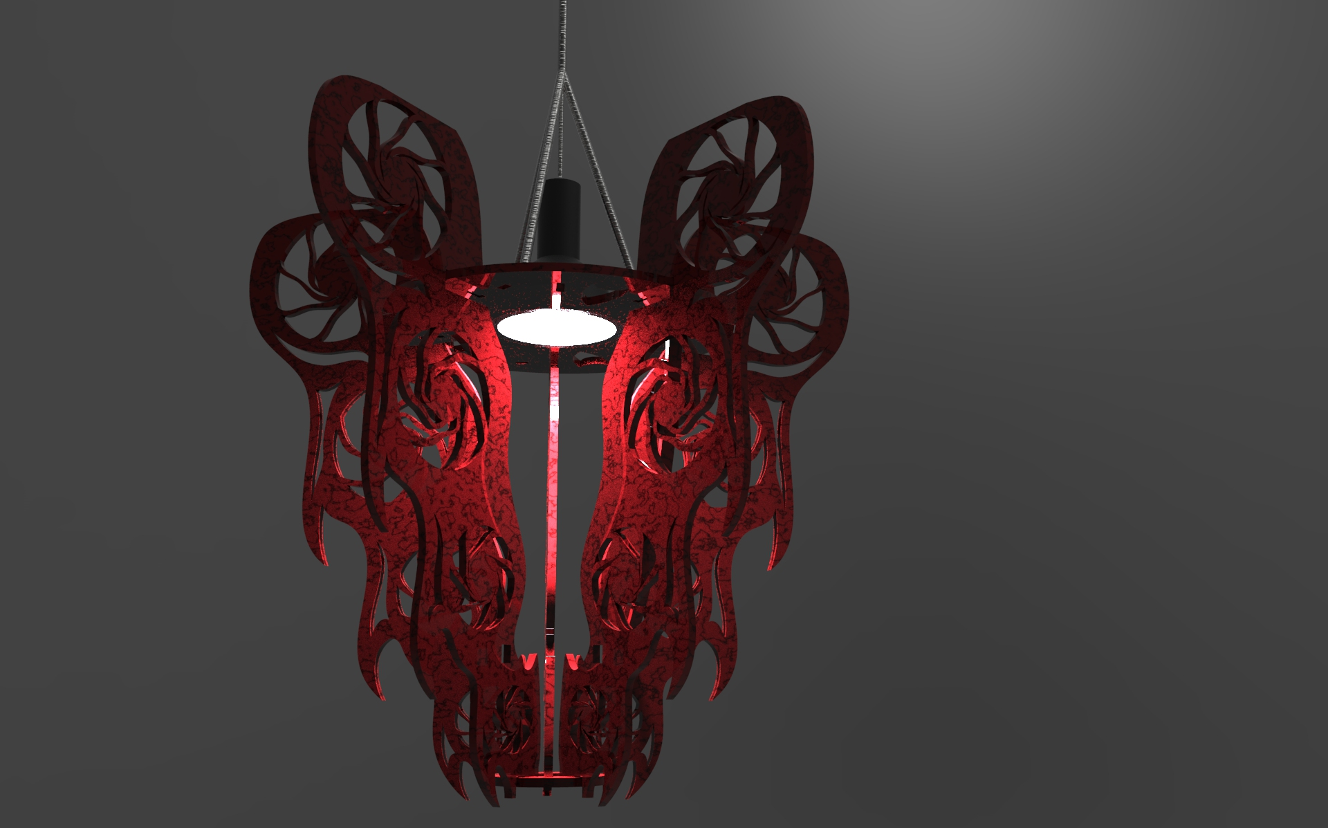 Final render red with black viens