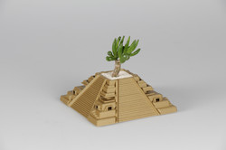 3D Printed Temple with 1 Plant