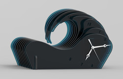 Slotted V1 render acrylic teal.