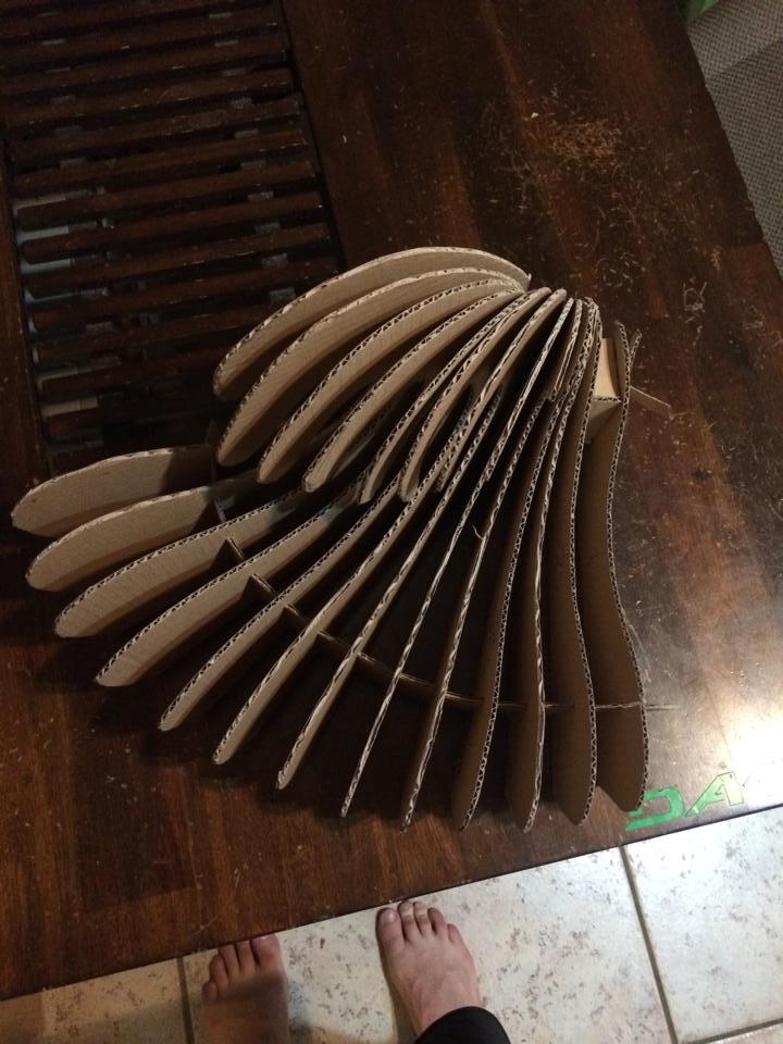 Wave design cardboard prototyping.