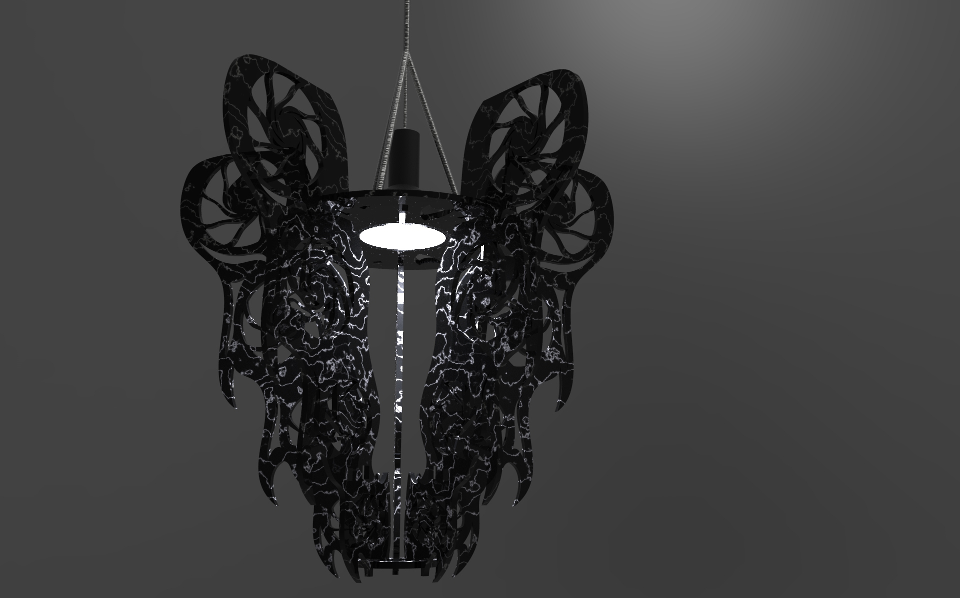 Final render black with white viens