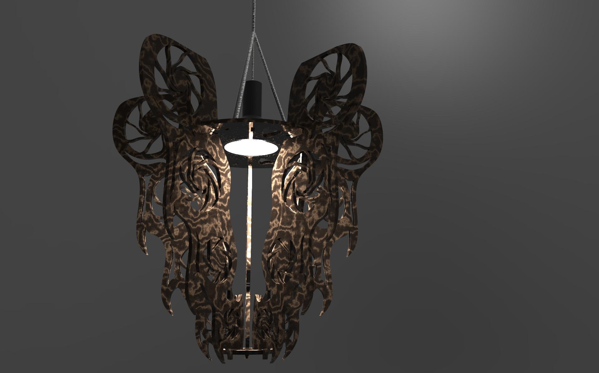 Final render black with brown viens