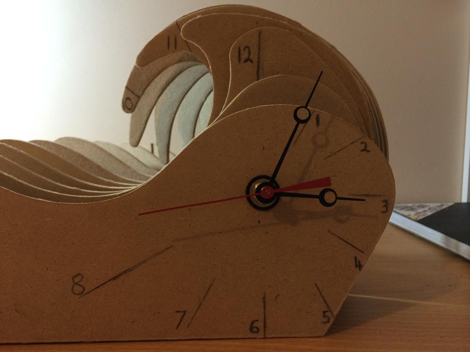 Rubber guide MDF clock