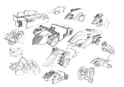 Concept sketching vehicles
