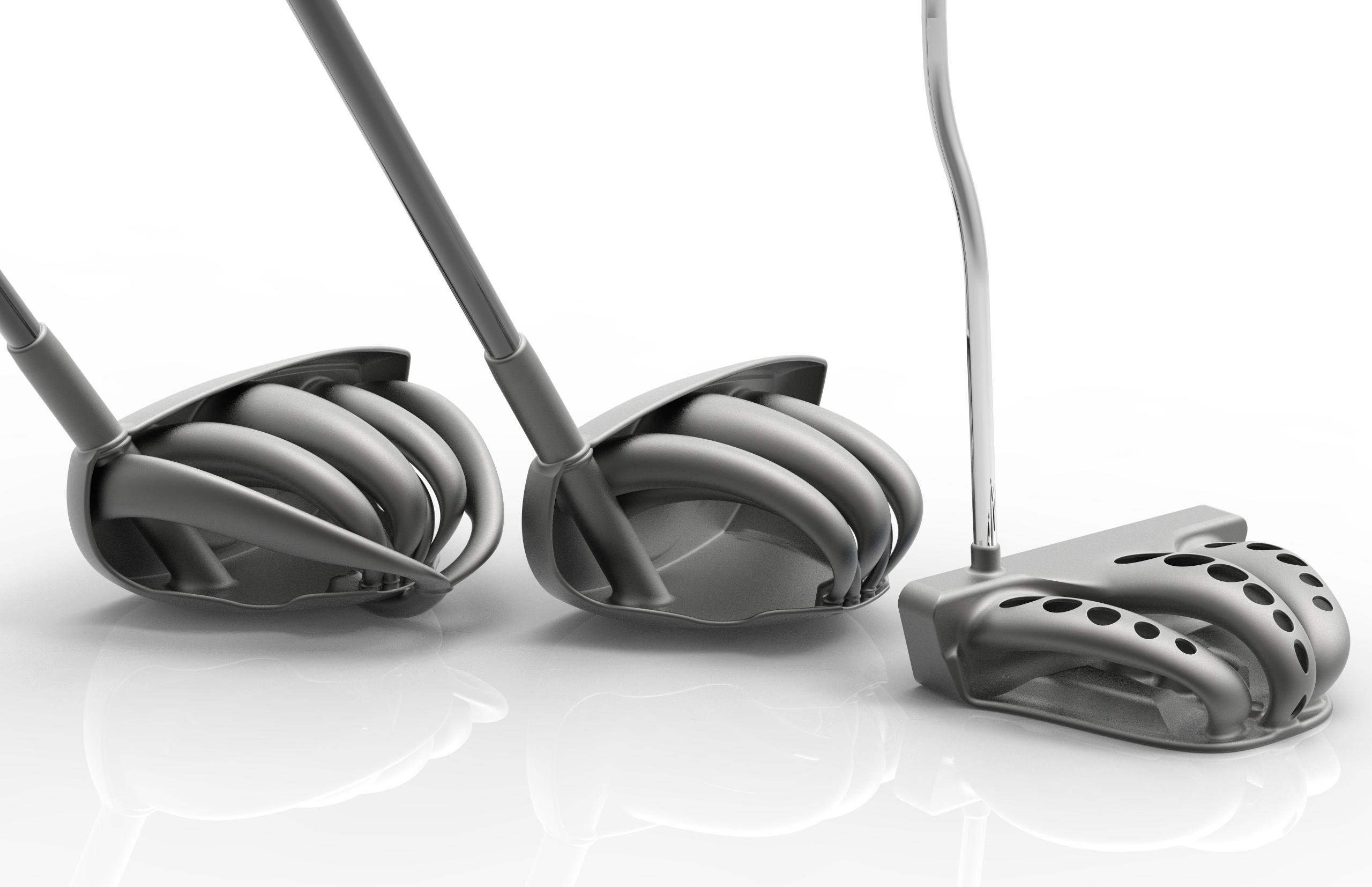 T1, T2 and P1 Titanium DMLS Golf Clu
