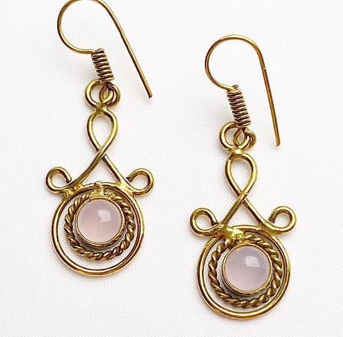 Rose Quartz Latakana Earrings