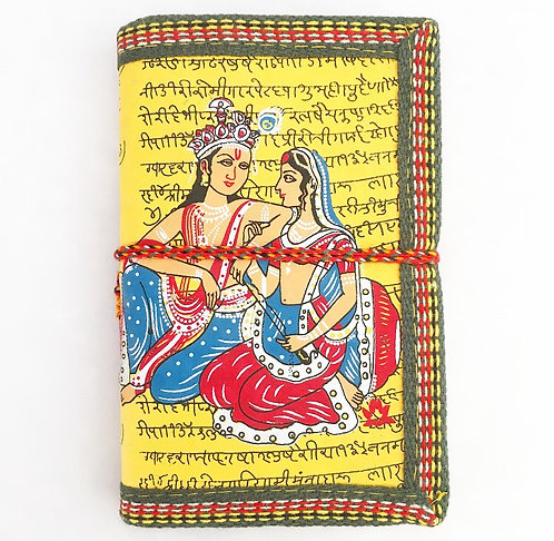 Yellow Krishna & Radha Journal