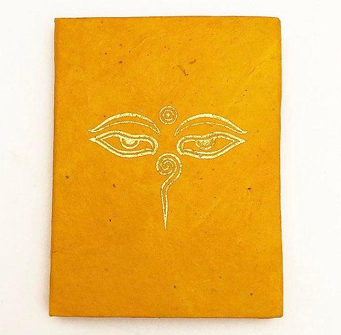 Orange Buddhas Eye Auspicious Symbol Notebook