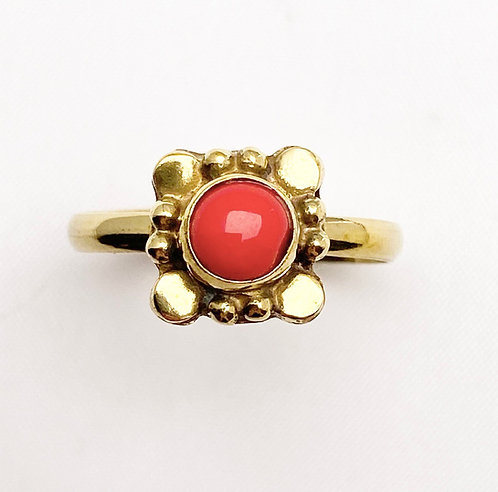 Coral Brass Varg Ring