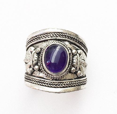 Amethyst Tibetan Ring