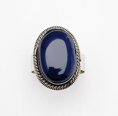 Navy Agate Stone Ring
