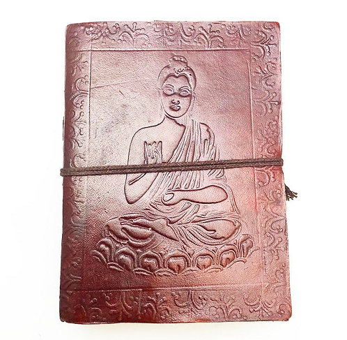 Small Buddha Leather Journal