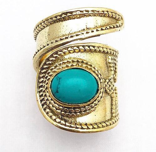 Turquoise Lapeten Ring