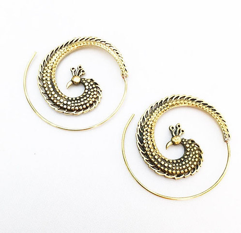 Mobor Brass Earrings
