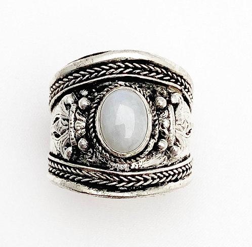 Moonstone Tibetan Ring