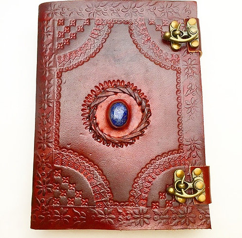 Lapis Lazuli Lock Leather Journal