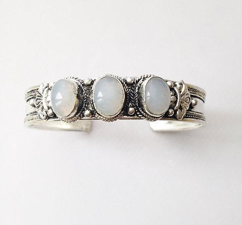 Moonstonee 3 Stone Bracelet