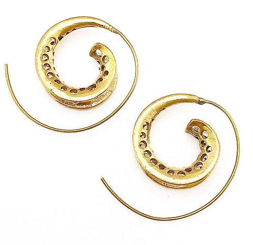 Pernem Brass Earrings