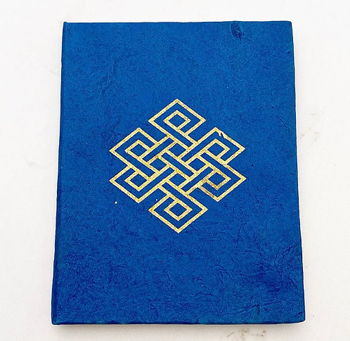 Navy Endless Knot Symbol Notebook
