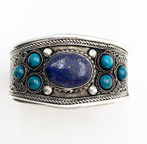 Lapis Lazuli Filigree Cuff