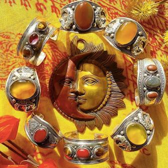 Handmade Stone Cuffs