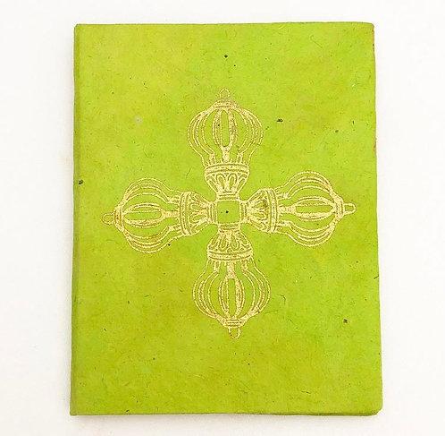 Lime Vajra Auspicious Symbol Notebook